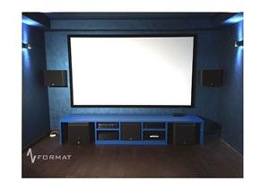 Picture of Домашний кинотеатр в цокольном этаже загородного дома